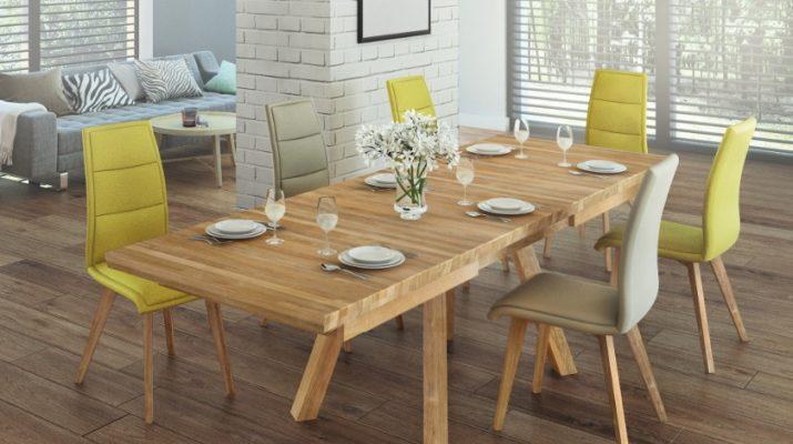 Dominantou jedálne je veľký stôl pre celú rodinu